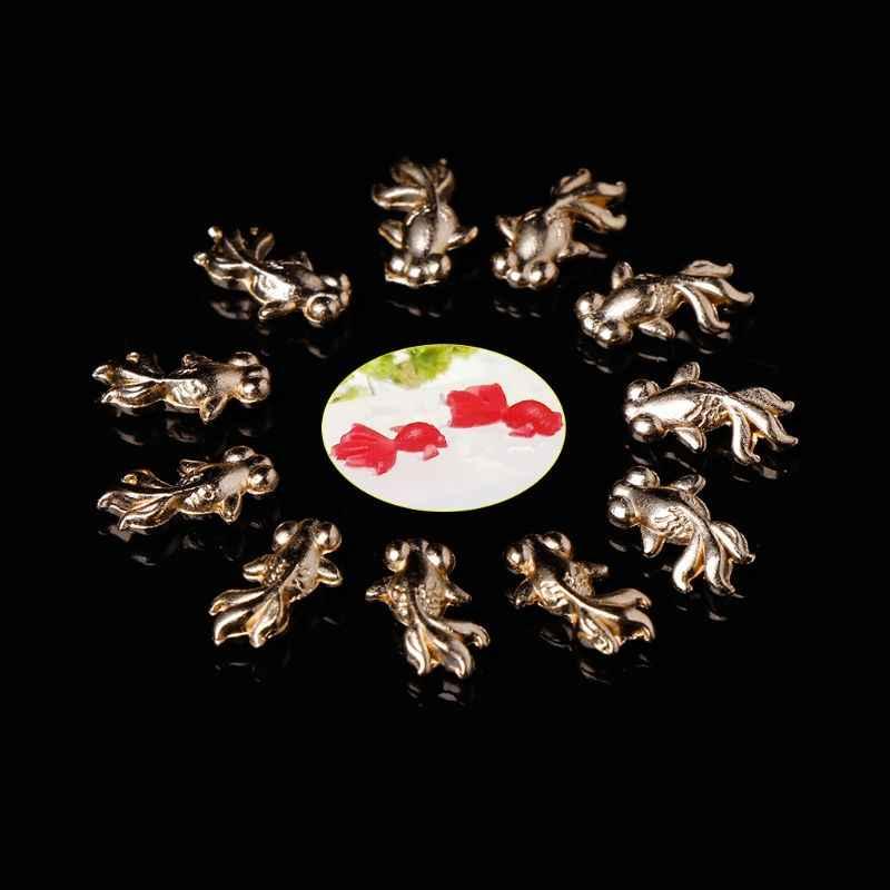 10 шт. наполнитель эпоксидной смолы DIY Подвеска для ювелирных изделий ожерелье Золотая Рыбка золотой сплав наполнитель материалы Подвески Рыба наполнение ремесла