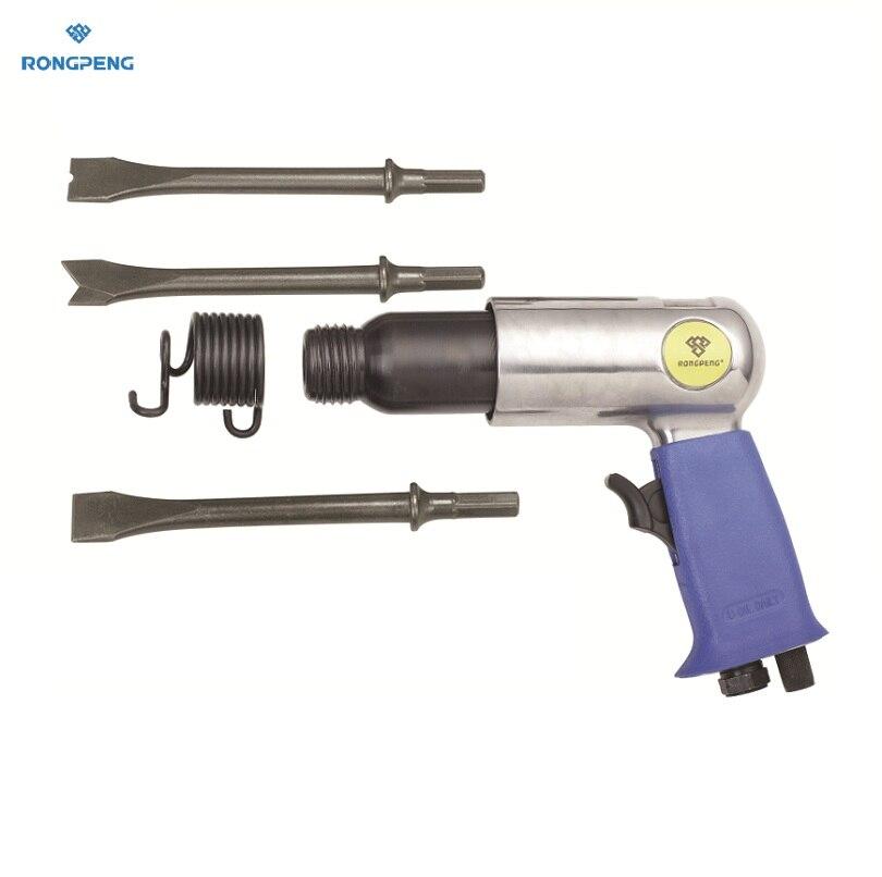 цена на RONGPENG PROFESSIONAL AIR HAMMER WITH 3 Pcs LONG 175MM HEX CHISELS PNEUMATIC Hammer RP7622