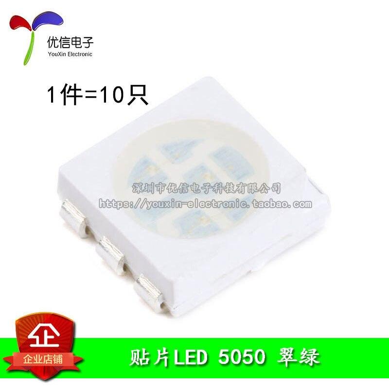 5050 SMD LED Highlight Green Green LED (10pcs/lot)