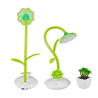 Sunflower Desk Lamp Flexible Gooseneck LED Table Lamp With Phone Stand Holder Touch Sensitive Rechargeable P20