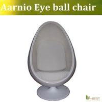 U-BESTオーバル眼球チェアで赤いクッションと白グラスファイバー卵椅子、エーロスタイル眼球チェアデザイナー再現