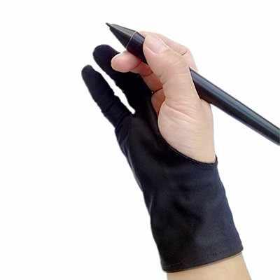 1 pcs artista guanto disegno guanto mano sinistra mano sinistra destra land frew formato libero di trasporto Lycra guanto con due dita