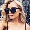 STORY New Fashion Brand Designer Women Cat Eye Sunglasses Oversize Female Cateye Mirror Sun Glasses Reflective