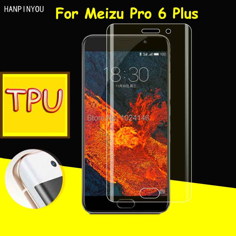 New Full Coverage Clear Soft TPU Film Screen Protector For Meizu Pro 6 Plus 6+ 5.7 , Cover Curved Parts (Not Tempered Glass)