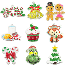Christmas-Series 1:Crutch Cupcake Pendant Bell Fox Deer First Gingerbread Choose-Design