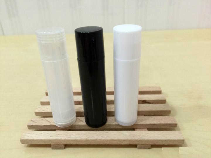 free shipping 5ml PP pro-environment material white/black/transparent lipstick tube,lip balm container with rotating flat cover free shipping 5ml pp pro environment material all white lipstick tube lip balm container with rotating flat cover