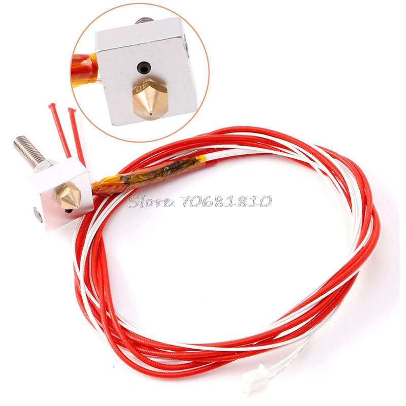 12V 1 75mm MK8 0 4mm Nozzle Assembled Extruder Hot End For Prusa i3 3D Printer