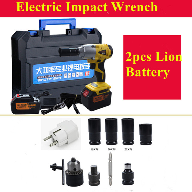 Professional New 350N.m 1/2''cordless impact wrench with split motor Electric Impact Wrench Car Tyre Wheel Wrench