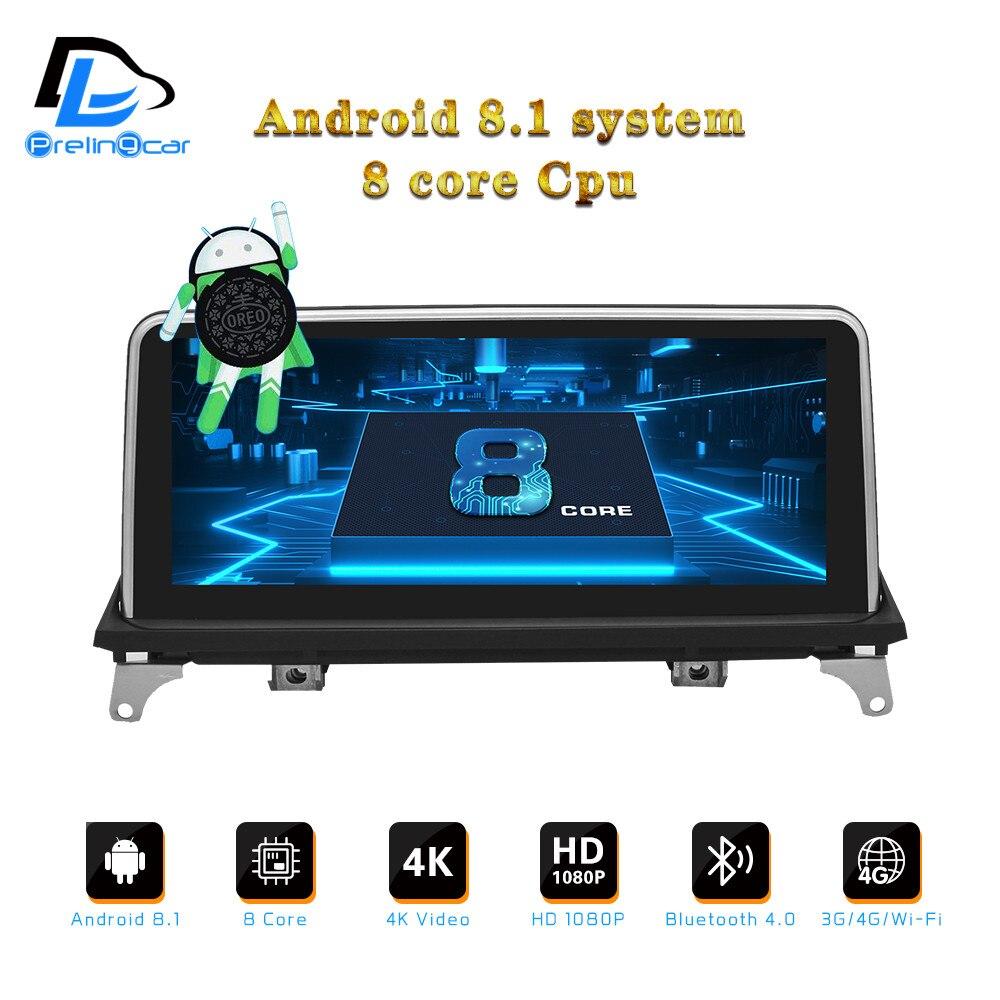 Lecteur dvd android 8.1 pour BMW X5 série E70 E71 2008-2013 ans CCC CIC système auto radio gps navigation multimédia