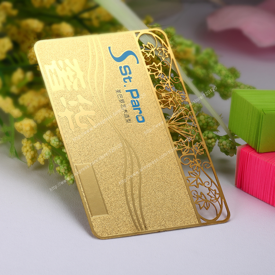 Plated golden  personalized  VIP metal card