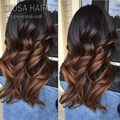Hot!!150 density #1B/#30 full lace ombre human hair wigs long wavy two tone color glueless lace front wig with baby hair around