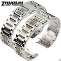 New arrivals for mens curved end stainless steel watchband bracelet watch18mm 19mm 20mm 22mm stainless steel banding strap