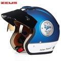 Zeus casco de la motocicleta chopper cruiser 3/4 open face vintage casco 3813 casco de moto casco casque motocicleta capacete cascos de piloto
