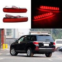 2 Pcs Car Styling 12V 6W Rear Bumper Lamp For Toyota Highlander 2011 2012 2013 LED