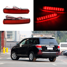 2PCS LED Rear Bumper Reflector Brake Light For Toyota Highlander 2011 2012 2013 6W Auto Car-styling Tail Stop Lamp Warning Light цена в Москве и Питере