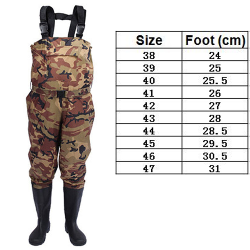 0.35mm One Piece Camouflage Fishing Waders Waterproof Nylon+PVC Fabric Breathable Waist Belt+Pocket Type Fishing Waders Overalls0.35mm One Piece Camouflage Fishing Waders Waterproof Nylon+PVC Fabric Breathable Waist Belt+Pocket Type Fishing Waders Overalls