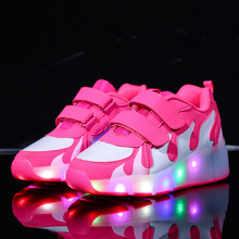 Led luminous Shoes For Boys girls Fashion Light Up Casual kids 7 Colors USB charge new