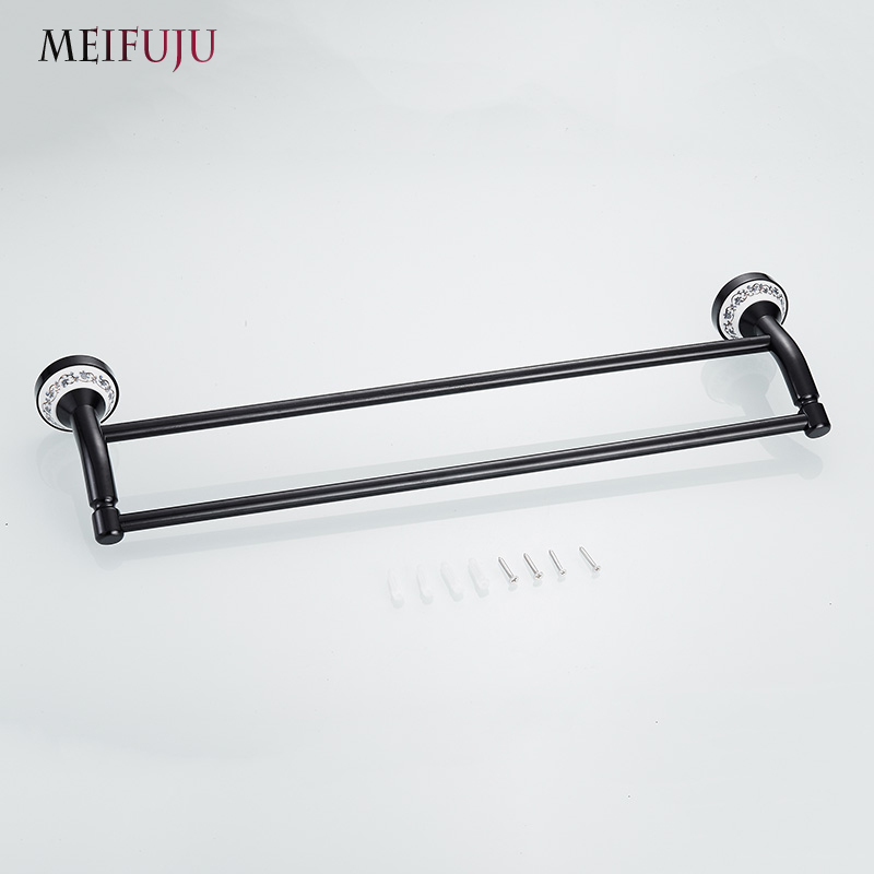 Blue And White Porcelain Bathroom Accessories Double Towel Bar Holder Hardware Products Rack Hanger In Bars From Home