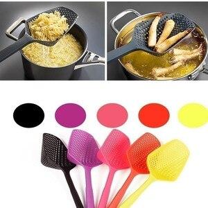 Image 2 - Cooking Shovels Vegetable Strainer Scoop Nylon Spoon High temperature resistant pressure Colander Soup Filter Kitchen Tool A3078