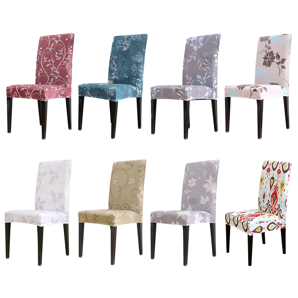 1 Pc Digital Print Elastische Stoel Cover Stretch Dining Seat Cover Hoes Restaurant Banket Hotel Home Decoratie Structurele Handicaps