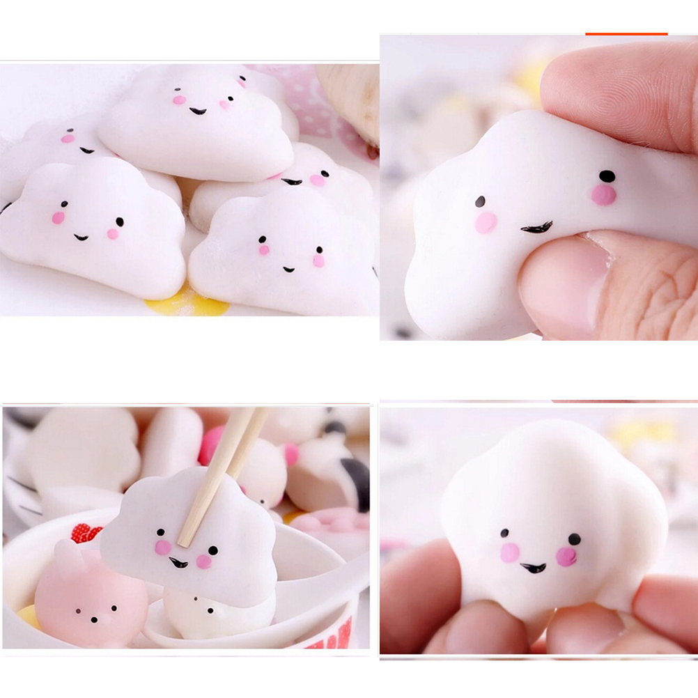 Mobile Phone Accessories Cellphones & Telecommunications Beautiful 3pcs Kid Toy Hobbie Gift Soft Ushihito Kawaii Cute Squishy Press Slow Rising Mini Small Cloud Squeeze Phone Straps Bread Cake