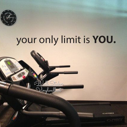 Your Only Limit is You Wall Sticker Motivational Quote Removable Decal Inspirational Gym Quotes Cut Vinyl Q3