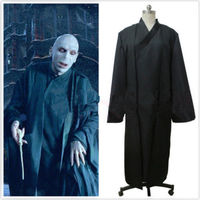 Halloween Harri Potter Lord Voldemort Black Uniform Cosplay Costume Halloween Stage Gift Drop Ship