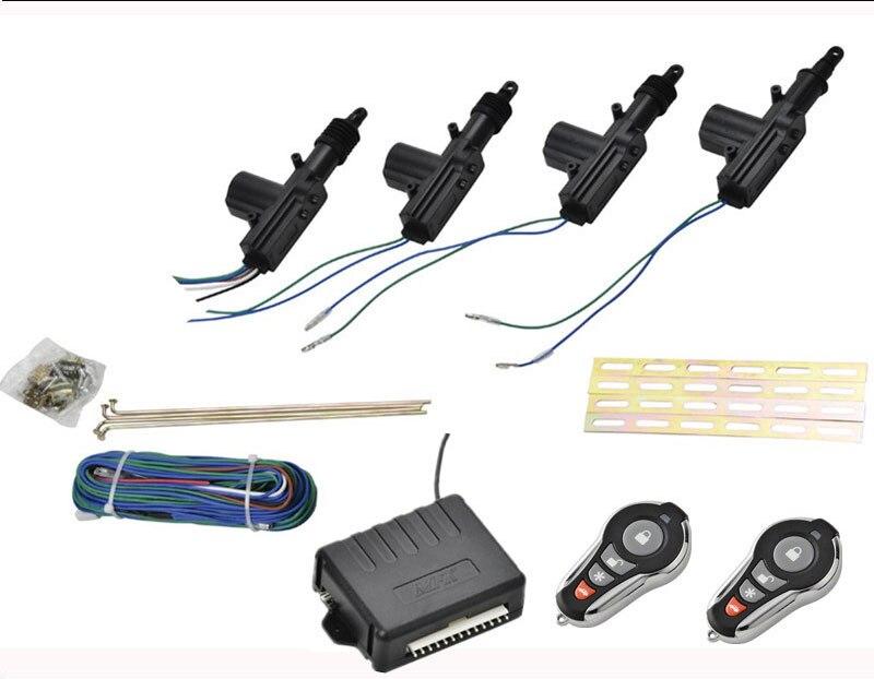 Kit de verrouillage Central automatique 2/4 porte sans clé entrée 12 V universel voiture Kit Central à distance système de verrouillage de porte système d'alarme de voiture