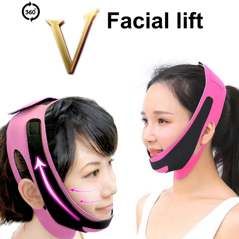 Delicate Face Lift Tool Facial Thin Slimming Bandage Skin Care Tool Belt Shape And Lift Reduce Double Chin Face Hot Thining Band