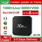 X96 Mini IPTV France Arabic Box Android 7.1 2GB 16GB Amlogic S905W Quad Core with QHDTV 1 year Subscription France Arabic IPTV
