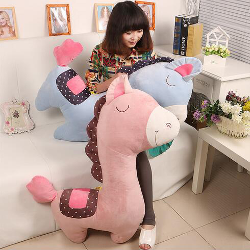 цена на 40/60/75cm New Arrival Stuffed Horse 4Colors Plush Toys Cartoon Animals Creative Presents for Kids Baby Loved Gifts for Children