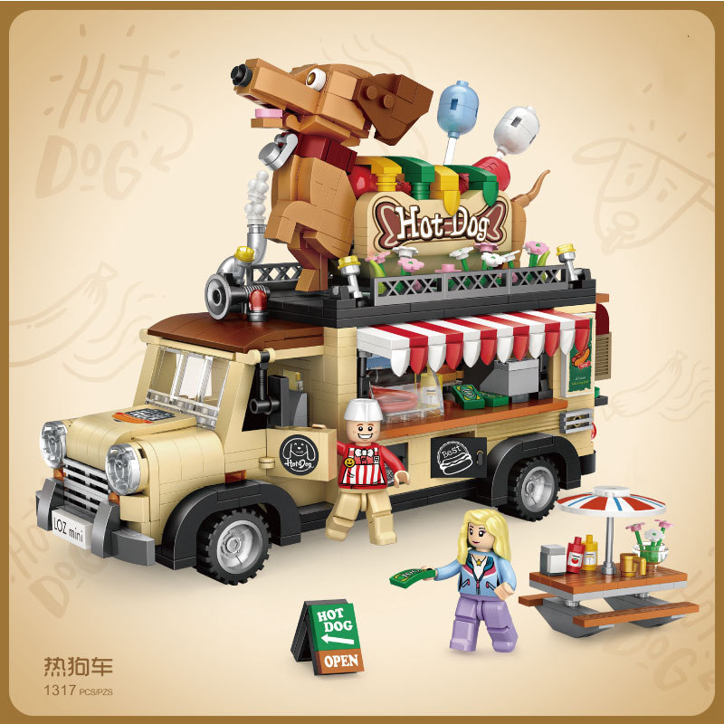 1317pcs Children s educational building blocks toy Compatible city Friends girl Hot dog cart DIY figures