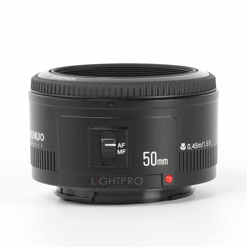 YONGNUO YN50mm f1.8 automatyczne ustawianie ostrości obiektyw do modeli Canon EOS 60D 70D 5D2 5D3 600D 1200D 6D 650D lustrzanki cyfrowe obiektyw YN EF 50mm f/1.8 obiektywu AF