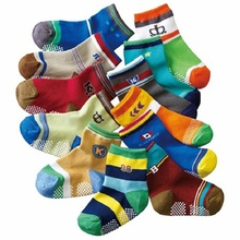12 Pairs/Pack 1-3 Years Old Autunm Winter Cotton Children Socks Non Slip Cute Cartoon Stripe Baby Socks Kid Socks Wholesale baby shoe socks autumn winter cotton thickened 0 1 3 years old baby learn walk socks non slip soft bottom children floor socks