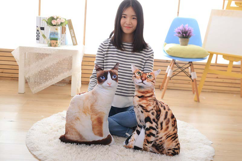 1pcs 50cm Soft 3D Simulation Stuffed Cat Toys Double-side Seat Sofa Pillow Cushion Cute Plush Animal Cat Dolls Toys Gifts (1)