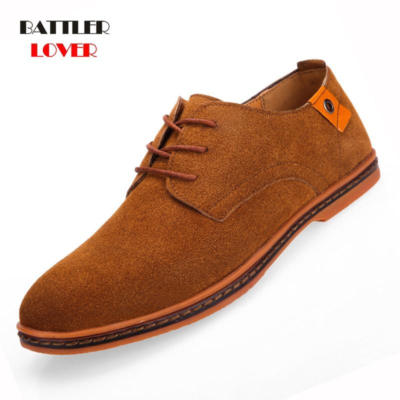 2019 new fashion men casual shoes new spring men flats lace up male suede oxfords men leather shoes zapatillas hombre size 38-48