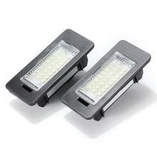 2Pcs 12V 3W 24 LEDs License Plate Light Number Plate Lamp For Audi TT Q5 A4 A5 S5 For VW/Passat R36 2008