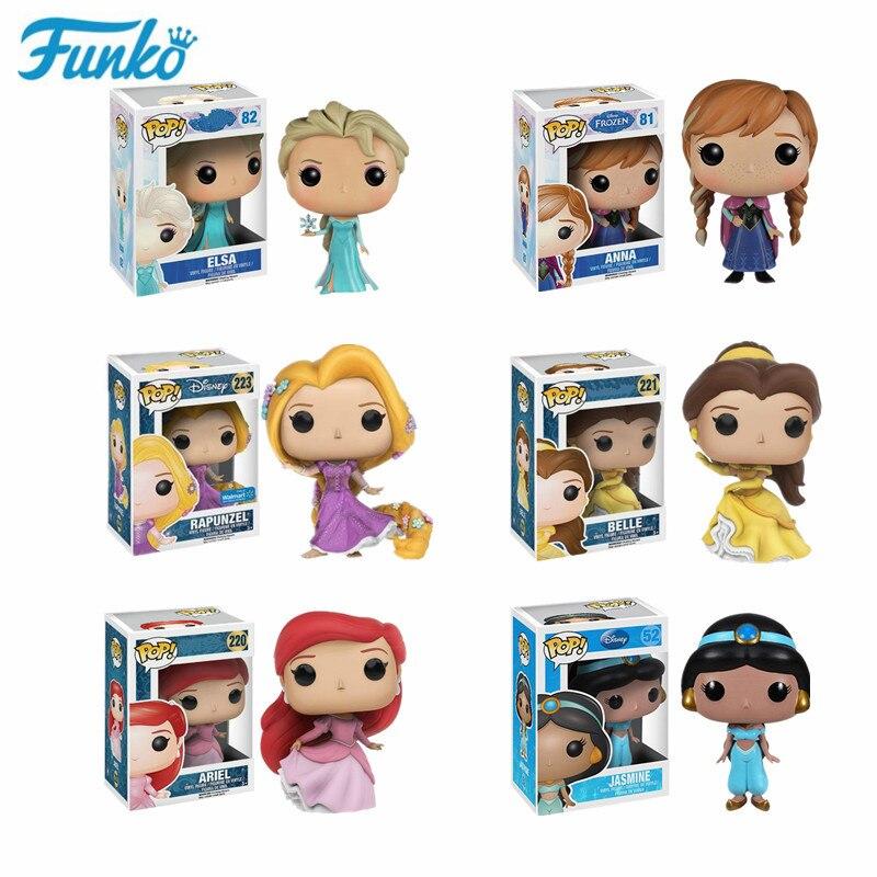 Funko POP Gefrorene #82 Elsa #81 Anna Vinyl Puppe Sammlung Kawaii #220 Ariel #52 Jasmin Action abbildung Modell Spielzeug Geburtstag Geschenk