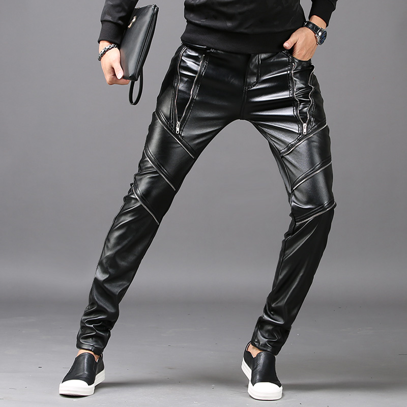 Spring Trends Men's Leather Pants  1