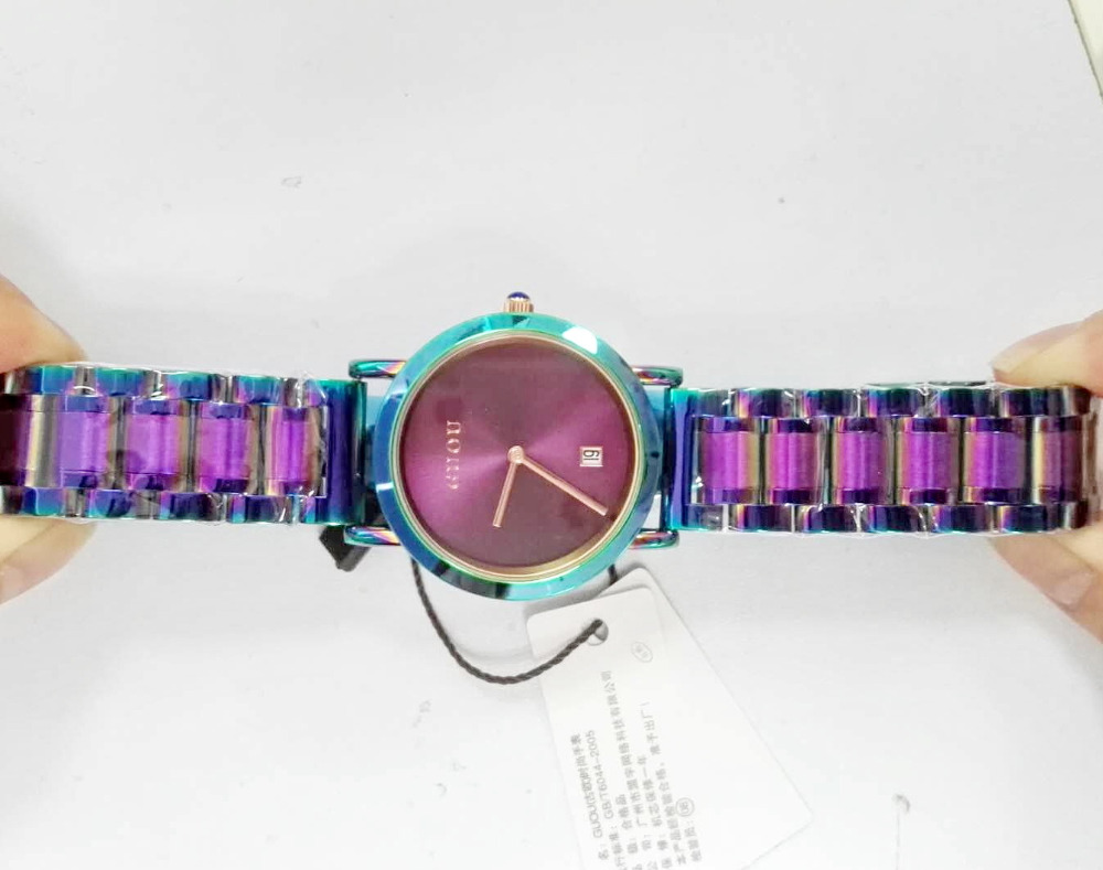 купить HK Brand Ladies Quartz Watches Water Resistant Women Fashion Clocks Ultra-Thin Rose Gold Stainless Steel Calendar Dress Watches по цене 1699.26 рублей