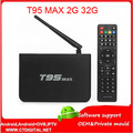 T95 S905 MAX 10 unids 2G 32G Amlogic Quad Core Android 5.1.1 TV 2.0A Box Wifi HDMI 4 K * 2 K Kodi Malvavisco Media Player Set top box