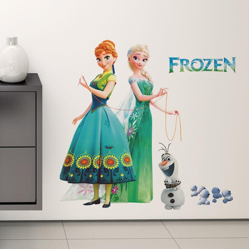 QUEEN ELSA Disney FROZEN Princess Decal Removable WALL STICKER Home Decor Kids