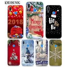 Transparent Soft Silicone Phone Case Happy Ho Ho Ho Christmas for huawei P Smart Nova 3i P20 P10 P9 P8 Lite 2017 Pro Plus(China)