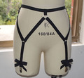 Harajuku goth women thigh harness black elastic thigh garter adjustable suspender belt 90's pole dance underwear P0045