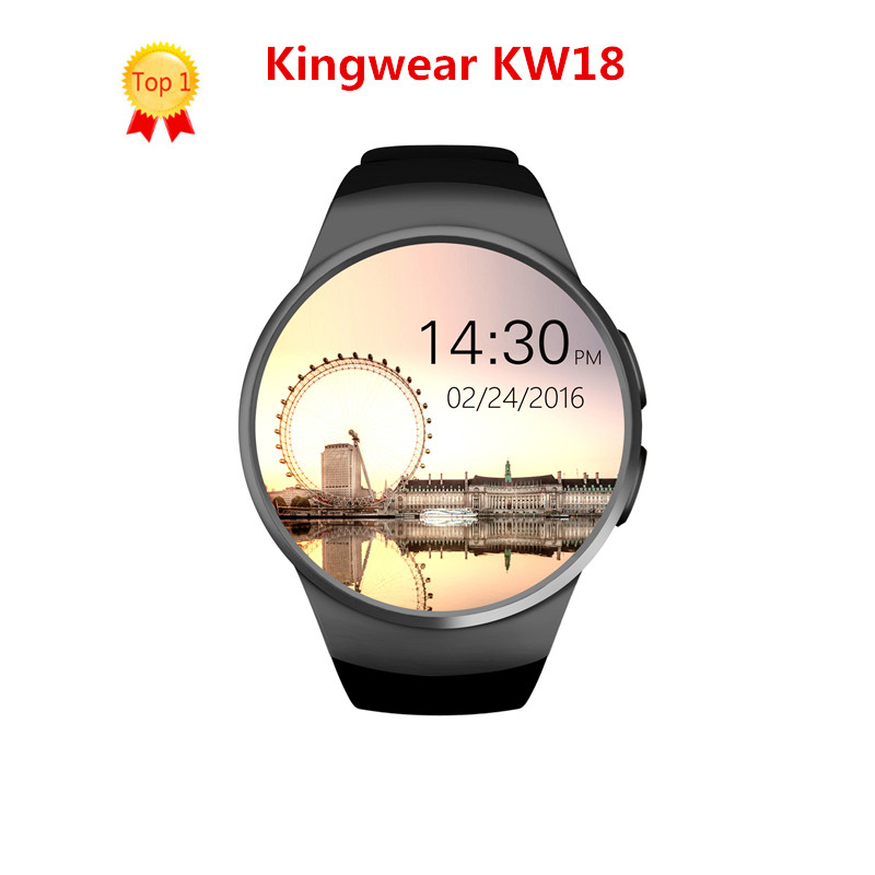 Kingwear KW18 Smart Watch phone Support SIM TF Card Heart Rate Monitor MTK2502 smartwatch for apple gear s2 Android IOS Phone fashion s1 smart watch phone fitness sports heart rate monitor support android 5 1 sim card wifi bluetooth gps camera smartwatch