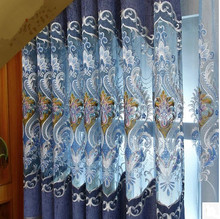 Upscale atmosphere openwork embroidery embroidery curtain luxurious living room bedroom windows luxury chenille products