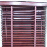 Деревянные жалюзи окна Горизонтальное 2 дюйма венецианской переменная свет Управление коричневый индивидуальный заказ для измерения