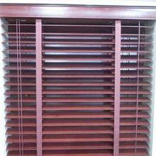 Wood Blinds Window Horizontal 2-inch Venetian Slat Variable Light Control Brown Custom Made to Measure