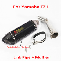 Motorcycle Slip on Exhaust Muffler Escape Link Connect Stainless Steel Pipe Whole Set Pip for Yamaha FZ1 Fazer FZ 1