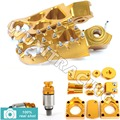 GOLD CNC New Footpegs Bling Kits M5X0.8 Fork Air Relief Bleeder Valves fit for Suzuki RMZ 250 450 10 11 12 13 14 15
